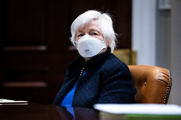 Janet Yellen earlier this month. Ms. Yellen's team at Treasury is working on developing guidance on how the $200 billion allocated for states and cities can be used.