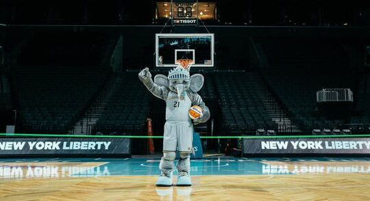 Liberty switch mascots as marketing of Brooklyn move accelerates